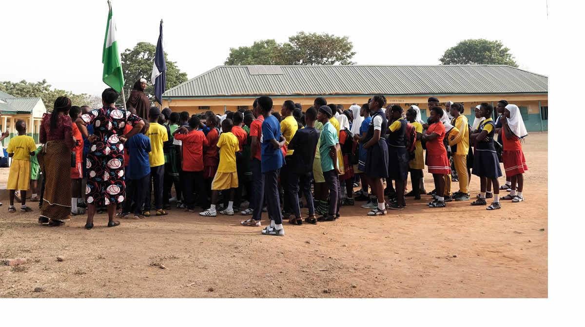 School assembly in Nigeria