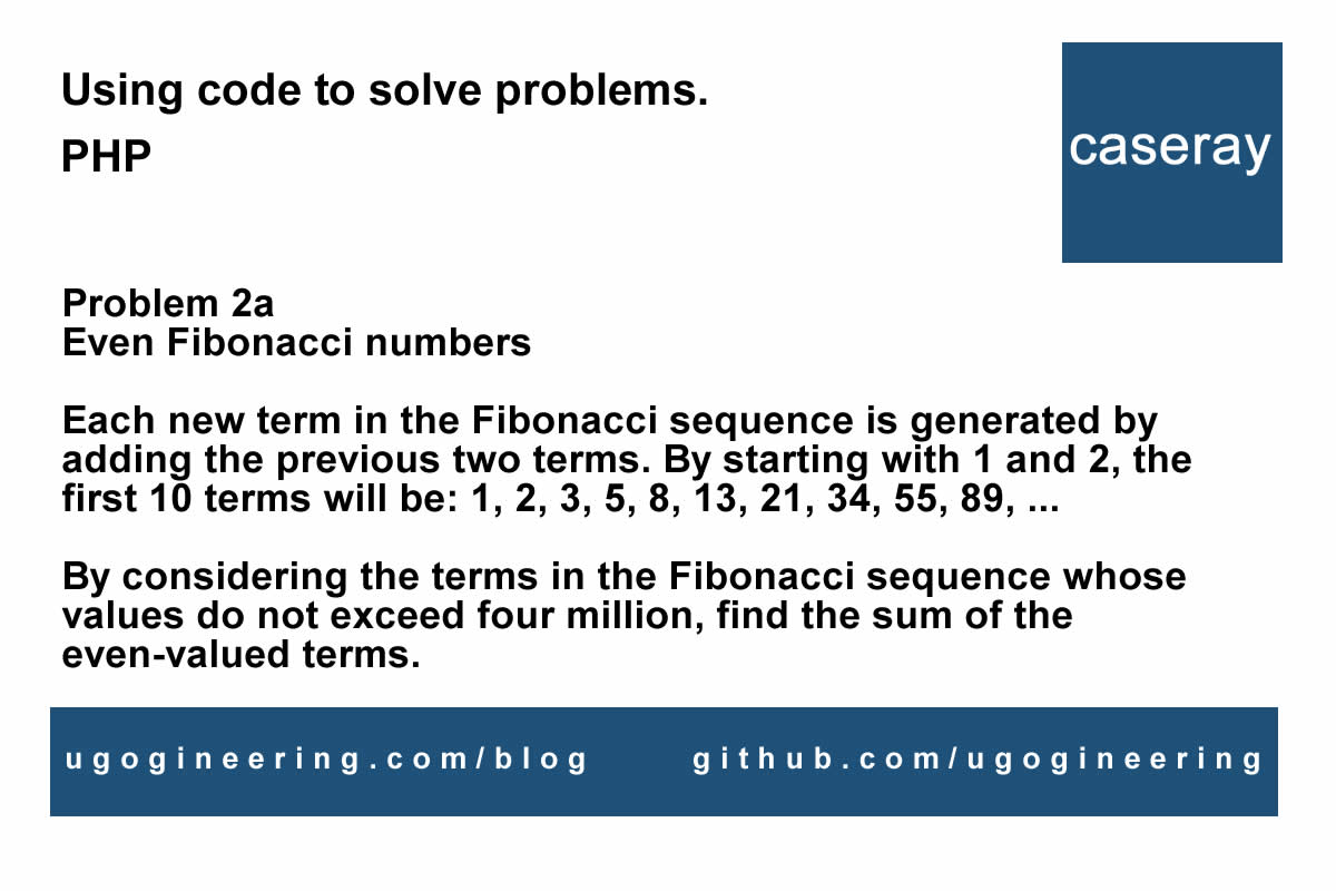 Sum of even Fibonacci numbers